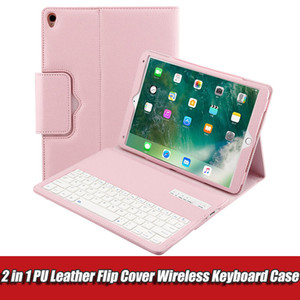 2 in 1 PU Leather Case Flip Wireless Bluetooth Keyboard Case Tablet Cover for Apple iPad Pro Air 9.7 with Holder
