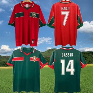 1998 Retro Marokko klassische Fußball-Jersey-Ouakili NEQROUZ Bassir Abrami alter maillot EL HADRIOUI HADJI älteste Fußball-Trikot