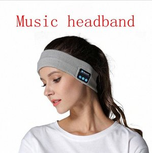 Bluetooth de punto de Música diadema Caps inalámbrica Bluetooth para auricular Ejecución de yoga caliente gimnasio altavoz al aire libre Accesorios para el cabello YL5 oegw #