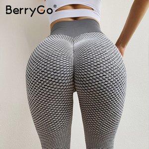 BerryGo Sports female spandex skinny leggings women Push up sports leggings fitness Workout sexy pants capris plus size