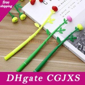 Gül Çiçek Jel Kalemler 0 .38mm Siyah Mürekkep İmza Kalem Okulu Büro Malzemeleri