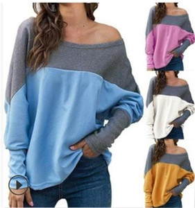 Clothing Autumn Winter Womens Designer Knits Contrast Color Crew Neck Batwing Sleeve Top Plus Size Women
