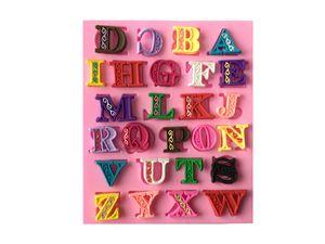 26 inglese delle lettere maiuscole modello di forma Relief forme del silicone della torta del fondente di Clay cucina cottura a mano regalo strumento decorazioni
