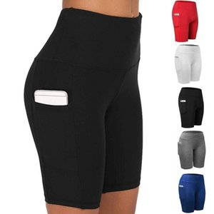 JGS1996 hohe Taillen-Taschen-Leggings Shorts Solid Color Workout Fitness Gym Gamaschen-Frauen-Kleidung Leggins Mmujer Laufen