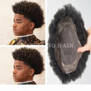 High Quality Black Color 100 Virgin Brazilian Human Hair Toupee Lace with PU Men Toupee Free Shipping