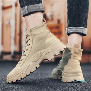 Hot sale-whloesale Men Women Boots Triple black Khaki ankle winter boots warm Martin Boots size eur 36-43