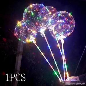 LED Balloon Ball Night Light BoBo Balloons With Stick Luminous Colorful Flashing Lamp Happy Birthday Party Wedding Decor