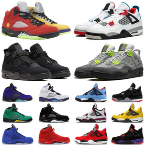 2020 nova chegada psg 4 5 homens de basquete sapatos 4s 5s jack cactus o que o Neon mens treinadores desportivos sneakers tamanho 5,5-13