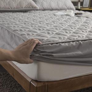 이 두꺼워 누비 매트리스 커버 킹 여왕 누비 이불 침대 장착 침대 시트 안티 박테리아 매트리스 토퍼 통기성을 침대 패드