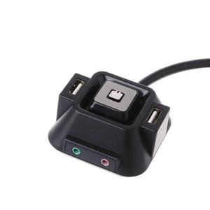 سطح المكتب الكمبيوتر الجديد PC DHL 20PCS حالة التيار الكهربائي على / قبالة HDD إعادة تعيين زر تبديل كابلات مزدوج USB الصوت