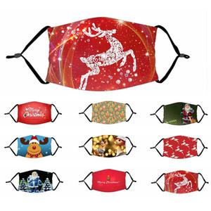 Рождественские маски Рождественские маски для лица против пыли Снежинка Рождественская рождественская ротовая очка моющийся многоразовый с масками фильтры для взрослых и детей