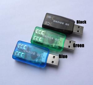 Tarjeta de audio USB 0.0 Cgjxs3d 2 Mic / altavoz Adaptador Surround Sound Card 7 0.1 Ch Para Notebook PC portátil