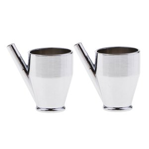 2 Pieces 5ml Metal Airbrush Color Cup For Double Single Action Airbrushes
