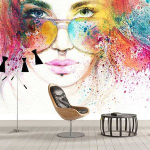 Custom Fashion Beauty Watercolor Painting Wall Decor Wallpaper For Bedroom Living Room Decoration Wall Mural Papel De Parede 3D