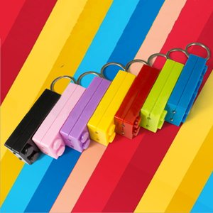 100pcs Lot LED Colorful Brick Key Chain Building Block Toys For Kids Gift Compatible Flashlight Brick Keychain Torch Keyring