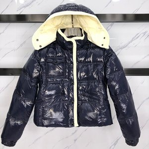 Женщины зимней куртки способ женщин вниз куртки высокого качества вниз ветровки пальто синего черная новые женщин зима вскользь открытый теплый Outwear
