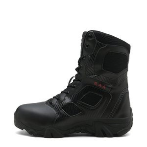 Men Tactical Military Boots Desert Army Hiking Boot Training Safety Sneakers Plus Size Zipper Jungle Police Walking Hunting Shoe