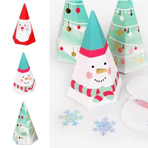 30pcs Christmas Triangular Pyramid Candy Box Gifts Box for Candy Cookie Christmas Party Supplies for Kids YU-Home