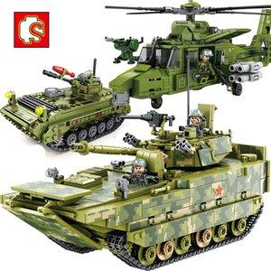Ejército infantería Sembo Guerra Militar vehículo de combate ZBD05 ZBD85 UAV construcción de ladrillos del bloque de las figuras regalo para los niños juguetes educativos