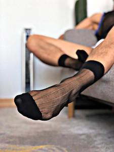 Schlauch-Socken Kleid-Socken-Geschenke für Männer Sheer Exotische Formal Wear Anzug Männer Sexy HornyTransparent Geschäft TNT