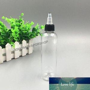Wholesale 120ML Smoke Oil Beak Bottles with Beak Lid Beak tip Transparent PET E Liquid Empty Plastic Bottles 4OZ with Long Dripper Tip
