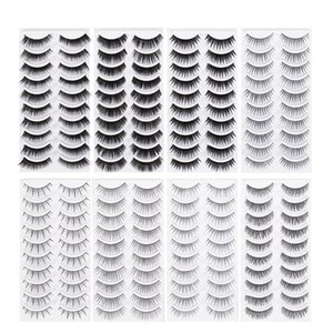 High Quality 80 Pairs Fake Eyelashes 8 Style Thick Long Eye Lashes Beauty Makeup for Women Lady Teenager Girls