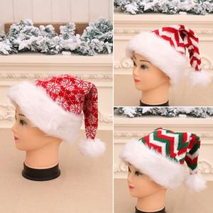 Livre DHL malha Natal Hat Unisex Adultos Ano Novo listrado Xmas Knitting Crochet Hat Cap partido do floco de neve Headwear HH9-3275