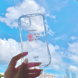 3d Cute Cartoon Dinosaur Holder Stand Silicone Soft Phone Case For Iphone X Xr Xs Max 6s 7 8 Plus 11 Pro Max