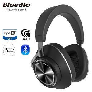 Bluedio سماعة T6C سماعة لاسلكية مع ميكروفون للهواتف ودعم الموسيقى AAC وAPTX