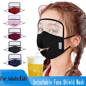 2 in 1 Draw Drinking Face Mask With Adjustable Zipper Adult Kid's Designer Eye Shield Face Masks Dustproof Mouth Cover Washable Face Masks