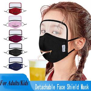 2 in 1 Zug Trinkgesichtsmaske mit verstellbarer Reißverschluss Erwachsener Kinder Designer Augenschild Gesichtsmasken staubdicht Mundabdeckung waschbare Gesichtsmasken