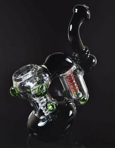 Pulgadas de cristal pipa de agua SoulGlass pelele de doble cámara Smooth Sprial de reciclaje mediante resolución Sólo OEM puede poner su logotipo en