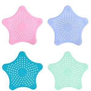 Estrelas de drenagem do filtro Tela Sieve Strainers Emissário Kitchen Sink Anti Bloqueio de Ferramentas filtrada Net esgoto Pool Bathroom Colanders cabelo 0 53ax C2