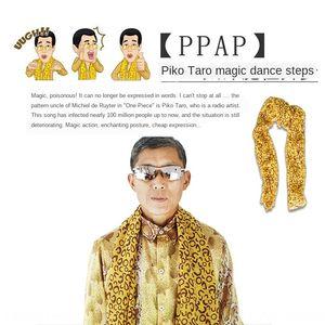 PPAP japonês piko tio Taro mesmas roupas cosplay exterior terno snake print lenço Brasão casaco de estampa de leopardo cachecol euMSO