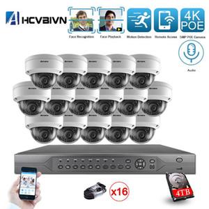 نظام AHCVBIVN H.265 + 16CH 4K 5MP POE كيت CCTV كاميرا في الهواء الطلق للماء POE الأمن IP كاميرا فيديو مراقبة مجموعة 4TB HDD
