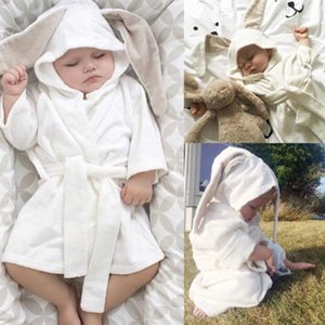 Garçon Fille 3D douche de lapin serviette Robes bébé tout-petits à capuche pour enfants Bain Toison d'hiver de bain Vêtements de bébé MX200811