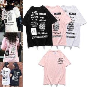 Yaz 2020 yeni alfabe tel geniş gevşek erkek ve kadın Kısa Kollu T-Shirt baskı örgü