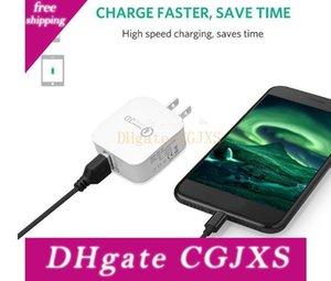 QC3 0,0 adaptativo de carga rápida Carga Rápida adaptador del hogar del recorrido del cargador de pared con nosotros Eu Versión para Samsung HTC LG
