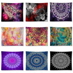 Mandala tapeçaria de parede Início decorativa Hanging Bohemia Praia Mat Yoga Colcha Camping toalha de mesa