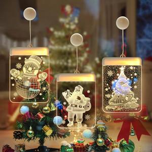 Fairy Gifts Decorações 2021 de Natal Xmas Santa para New Lamp Navidad Ano Decoração de sucção Início Luzes Claus 2020 yxlAFT