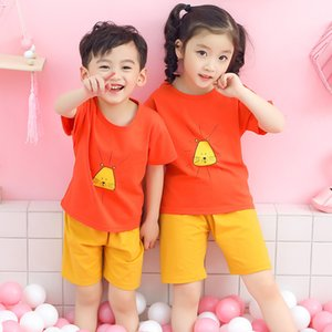 Summer Children'S Clothing New Korean Version Of Home Service Children'S Short-Sleeved Suit Western-Style Boys And Girls T-Shirt Pajamas Paj