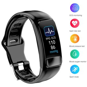 Spor Tracker Bileklik İzleme P12 EKG + PPG Spor Akıllı Bilezik Tansiyon Oksijen Nabız Akıllı Bant Uyku