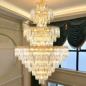 Modern Golden Chandeliers Luxury Gold Candle Crystal Chandelier Home Lobby Hotel Villa Lamp Lustres De Cristal Upscale AC Lustre