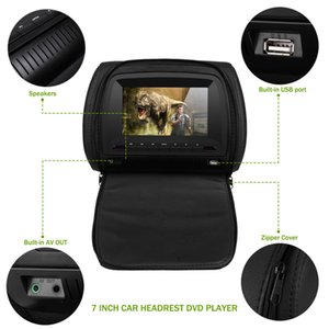Cemicen 2PCS 7 Inch TFT LCD Screen Car Headrest Monitor DVD Video Player 800x480 Zipper Cover Support IR FM USB SD Speaker Game