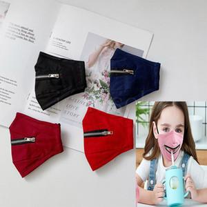Hot Kinder einstellbar Reißverschluss Maske staubdicht, winddicht, atmungsaktiv und beschlag reine Farbe Kinder Maske verpackt ist independe EWC1004