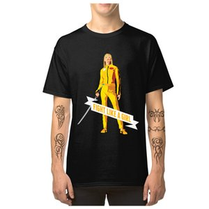 Swag Men T Shirts Fight Like A Girl Beatrix Kiddo Kill Bill Movie New Design T-Shirts Cotton Fabric O-Neck Male Female Tops Tees
