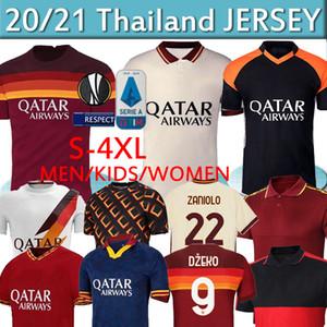 ROMA DZEKO ZANIOLO Roma como DE ROSSI Fútbol TOTTI PEROTTI KOLAROV 20 21 camiseta de fútbol 2020 2021 Men + niños uniforma el maillot tailandés