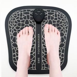 Elétrica EMS Massageador pé Pad Muscle Pés Estimulador Mat Foot Massage melhorar a circulação sanguínea Aliviar Ache Saúde Dor