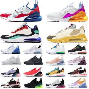 2019 Nike Air Max 270 designer de luxo tênis para mulheres dos homens triplo preto branco Blooming Floral Prints sports sneakers formadores 36-45