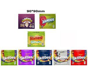 Boş İlaçlı Warheads Airheads Xtremes Starburst Ekşi Skittles Gummies İlaçlı Şeker Çanta Ambalaj Edibels
